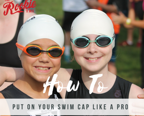 Rookie Tri how to put on swim cap