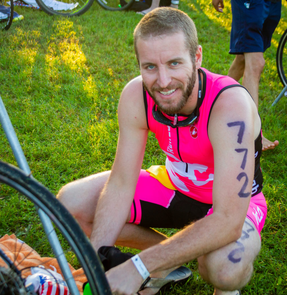 killing time in transition at my first triathlon